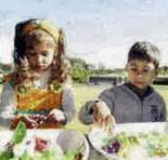 Children helping to preparte food